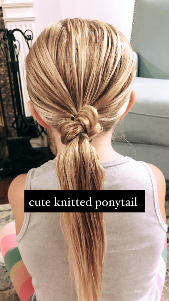 Cute Knotted Ponytail