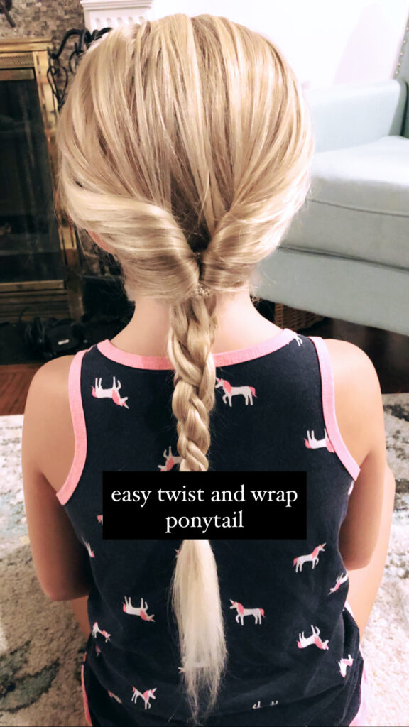 Easy Twist and Wrap Ponytail