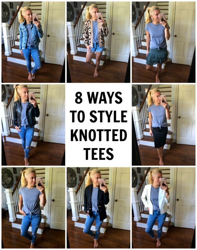 8 WAYS TO STYLE KNOTTED TEES