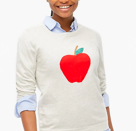 J.Crew Apple Teddy Sweater