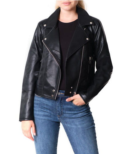 BLANKNYC - Good Vibes Faux Leather Moto Jacket