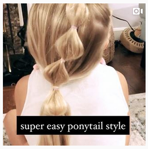 Easy Ponytail Style for Girls