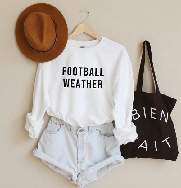 Football sweatshirt for women
