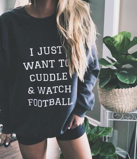 Cuddle and Watch Football Sweatshirt