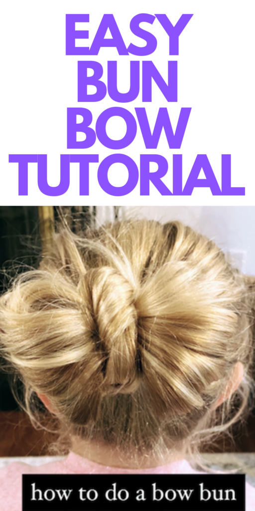 EASY Bun Bow Tutorial
