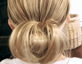 Simple Hairstyles for Girls - Puffy Messy Bun