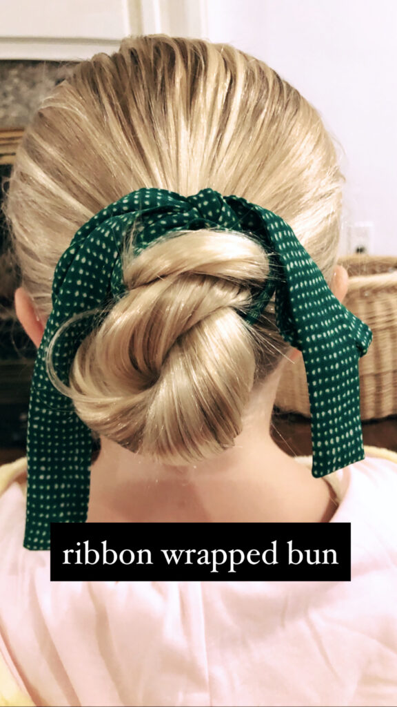 Simple Hairstyles for Girls - Ribbon Wrapped Bun