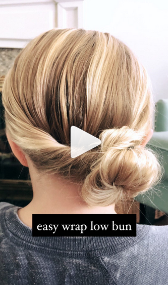 Simple Hairstyles for Girls - Wrap Around Bun Hairstyle