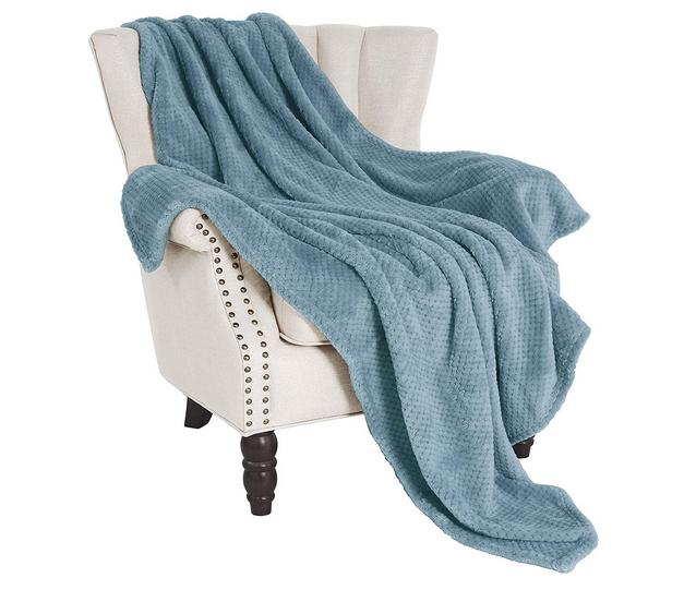 "winter gifts Exclusivo Mezcla Waffle Flannel Fleece Velvet Plush Large Throw Blanket– 50"" x 70"""