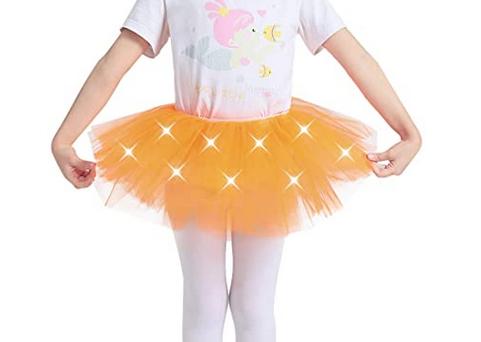 Reyoust Girls Light Up LED Tutu Skirt Mini Dance Costume Party