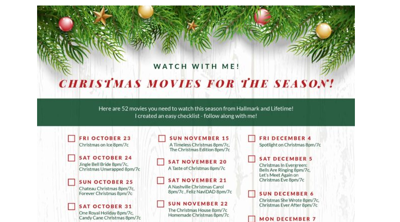 Prinable Christmas List 2020 Christmas Movies 2020 LIST (OMG! 52 OF THEM TO WATCH!)   Mom