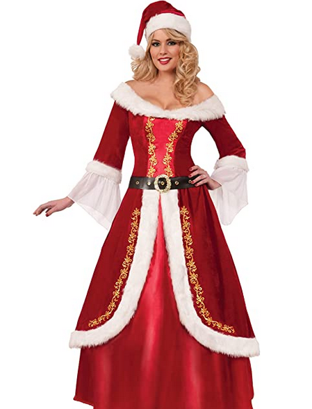 Novelties Women's Premium Classic Mrs. Claus Outfit