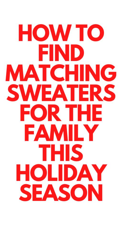 Matching Christmas Sweaters