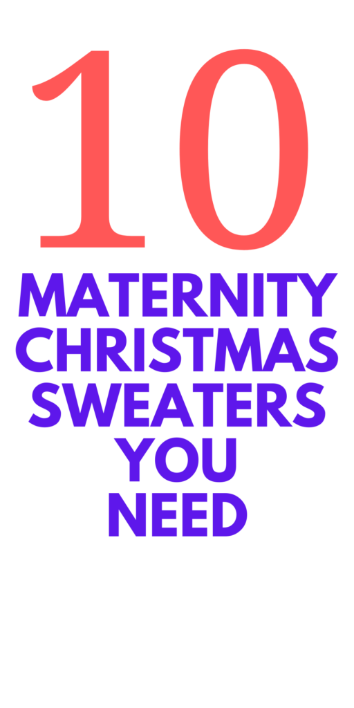 Maternity Christmas Sweaters