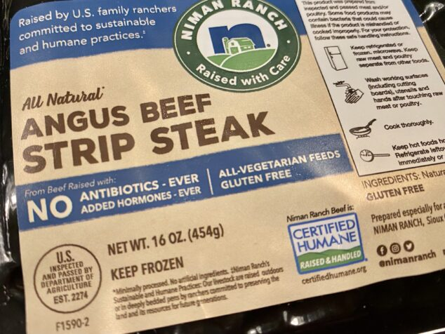 Angus Beef Strip Steak Dinner Recipe
