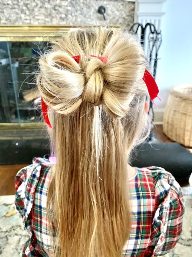 christmas themed hairstyles - Holiday Bun Hairstyle
