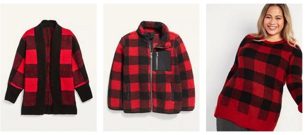 Buffalo Print matching sweaters