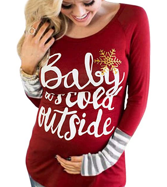 Christmas Baby It's Cold Outside Maternity