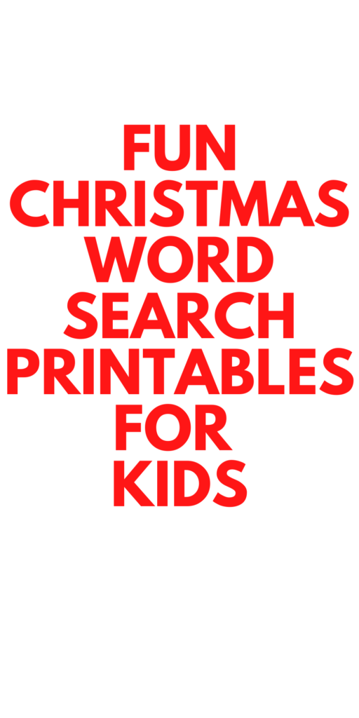 Christmas Word Search Printables