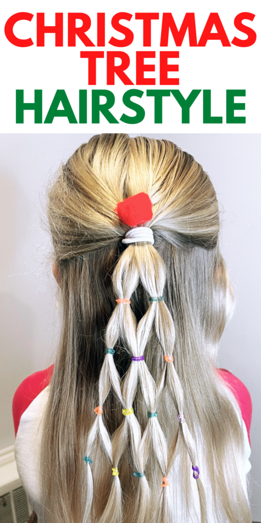Christmas Tree Hairstyle for Girls