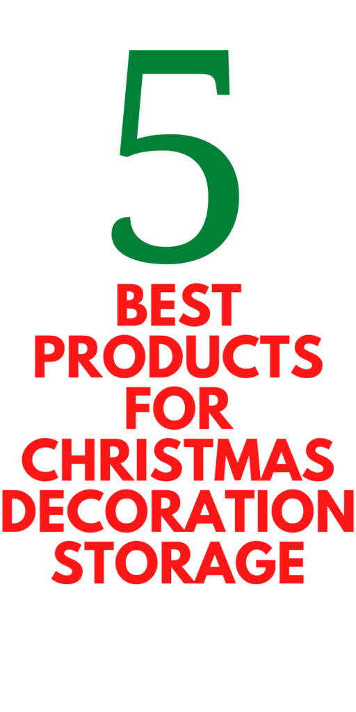 Christmas Organization - 5 Best Products
