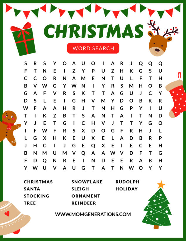 Christmas Word Search Printable
