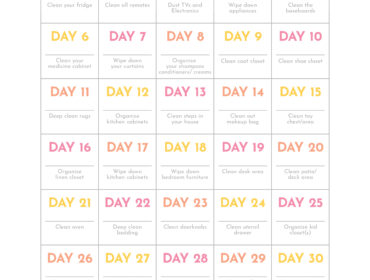 30 Day Cleaning Challenge
