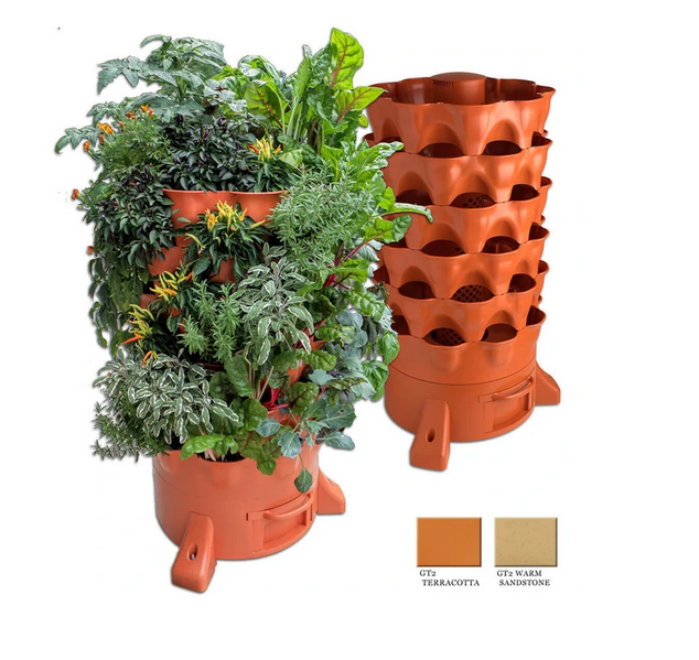Garden Tower® 2: 50-Plant Composting Vertical Garden Planter