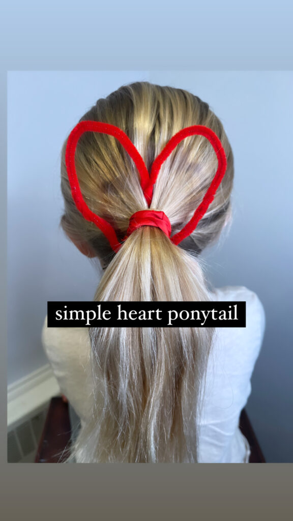 Heart Hairstyle for Girls