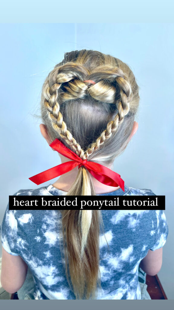 heart hairstyles for Valentine's Day