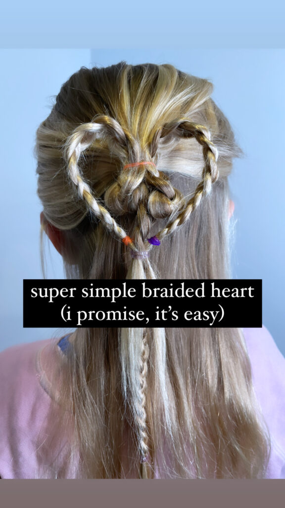 Heart Braid Hairstyle for Valentine's Day
