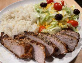 Sea Salt and Cracked Black Pepper Pork Loin Chop