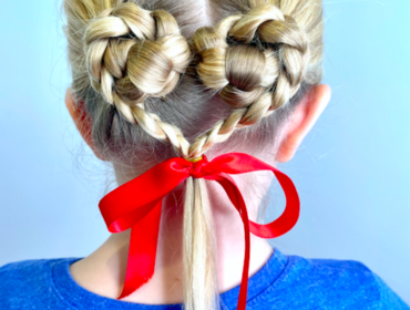 Easy Heart Hair Braid Hairstyle