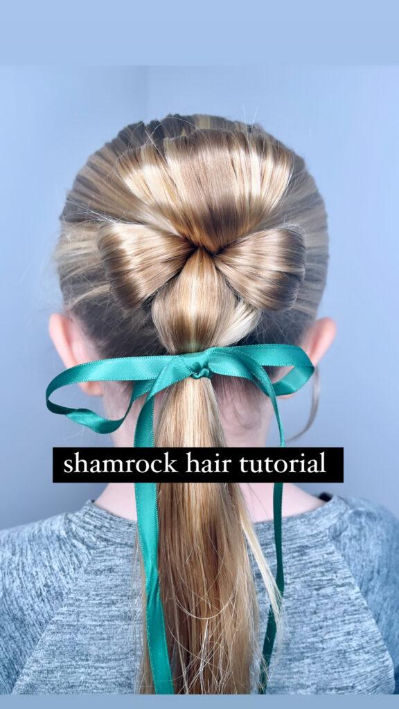 St. Patrick's Day Hairstyle - Shamrock