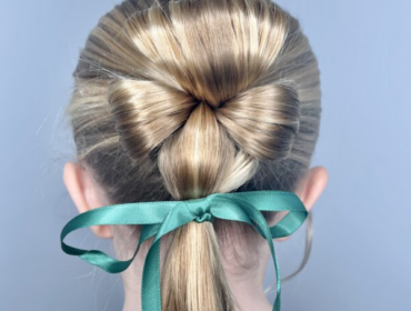 St. Patrick's Day Hairstyle - Shamrock