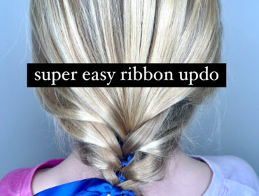 Simple Ribbon Updo