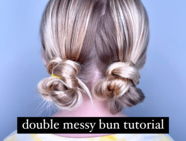 easy buns for long hair