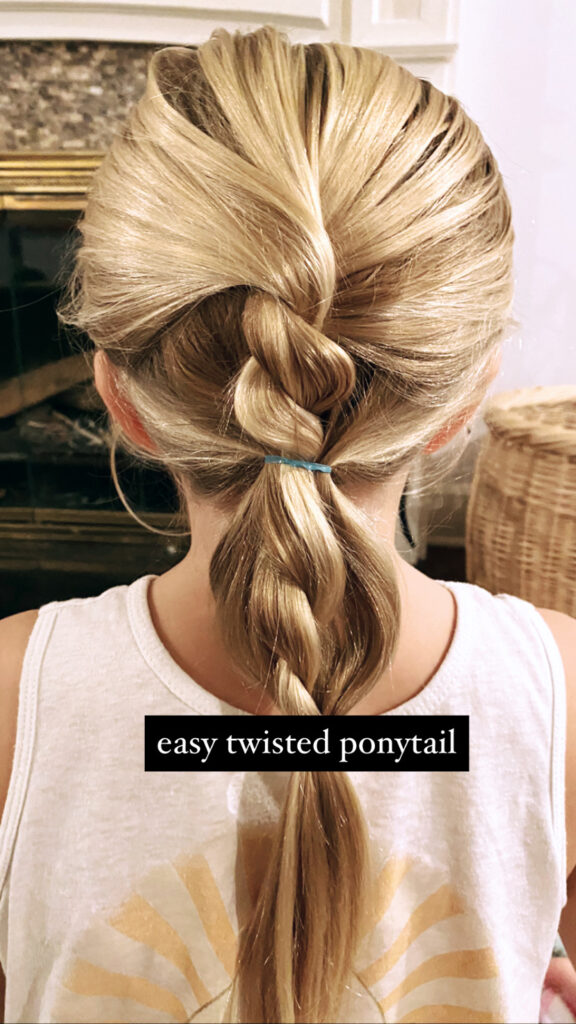 Easy Updo Twist Hairstyle