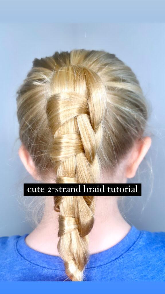 Cute 2-Strand Braid Tutorial