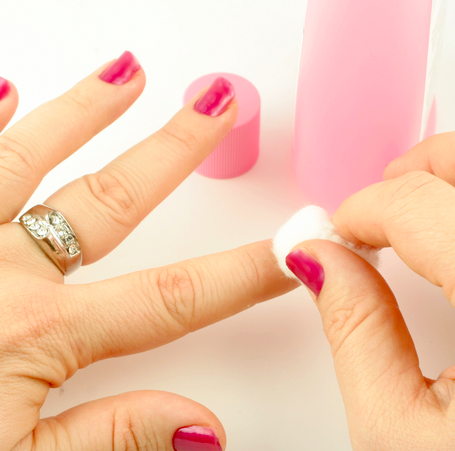 how to remove self tanner from your nails