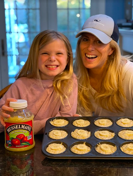 Easy Peanut Butter Banana Muffins made with MUSSELMAN'S AppleSauce